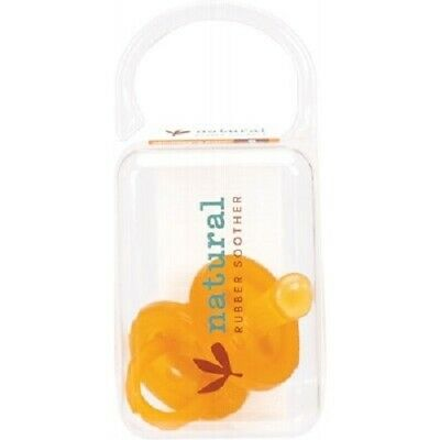 NATURAL RUBBER SOOTHERS Twin Pack Small Orthodontic (0-6 Mths)