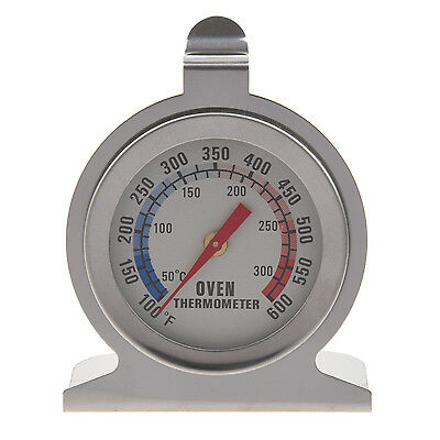Stainless Steel Oven Thermometer - Hang Or Stand In Oven  DM