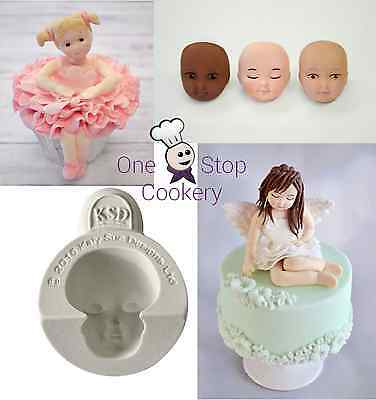 Katy Sue HEAD FACE Character Figure Silicone Mould - Set A FREE P&P