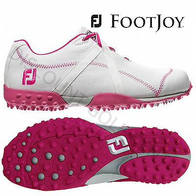 FootJoy M Project Spikeless WIDE Golf Shoes White Pink - 95615 CLEARANCE 2015