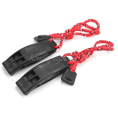 2x Safety Emergency Whistle Outdoor Camping Hiking Boat Survival Distress