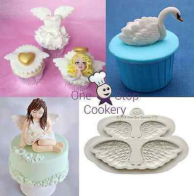 Katy Sue WINGS Silicone Cake Mould Embellishment Sugarcraft Swan Angel Fairy