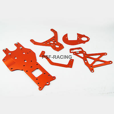 Rear Chassis Gear Plate Braces for HPI Rovan Baja 5B 5T SS UK PSF