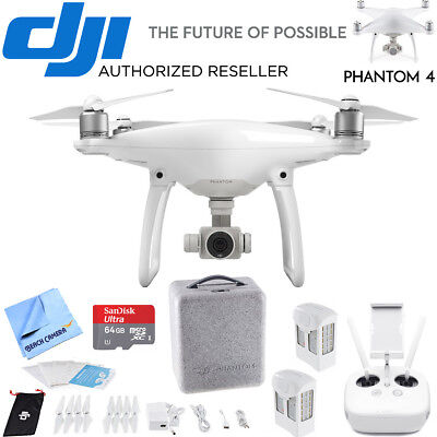 DJI Phantom 4 Quadcopter Drone Lexar High Speed 4K microSD Bundle