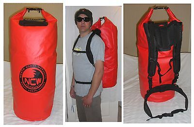 waterproof dry bag carry bag. Padded rucksack straps. 85 L carry 2 wetsuits easy