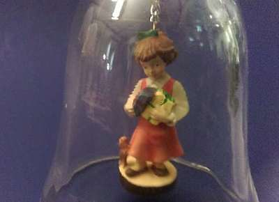 Dolfi Glass Chrystal Dinner Bell with Hand Painted Clapper of Little Girl ITALY