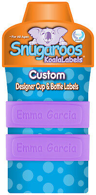 Personalized Daycare Labels for Sippy Cups & Baby Bottles (2 PACK)