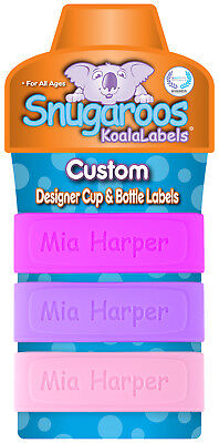 PACK of 3 Personalized Baby Bottle Labels & Sippy Cup Labels