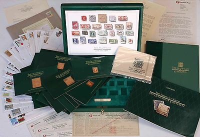 THE AUSTRALIAN COLLECTION - 25 Proof Gold Plated Silver Stamp Replicas (AS NEW)