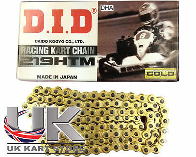 DID DHA 219 Pitch HTM G & B Chaîne 110 Maillons UK KART STORE