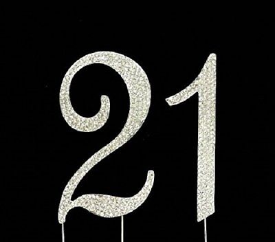 21st Birthday Cake Toppers Bling Birthday Cake Topper Real Sparkling Rhinestones
