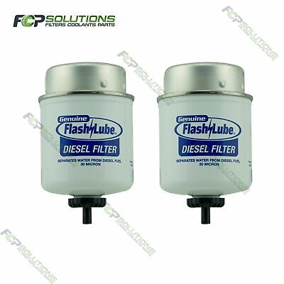 2 X FLASHLUBE(Fuel Manager) 30 Micron Diesel Replacement Pre Filter Element