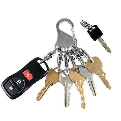 Nite Ize Key Rack - Stainless Steel - Keyring Key Holder Muli Clip