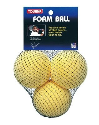 Tourna Foam Tennis Practice Youth Balls, Kids Training Aid-3 Pack