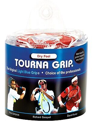 Tourna Tennis Racquet Over Grip-30 Overgrips-Absorbent Dry Feel Tournagrip-Blue