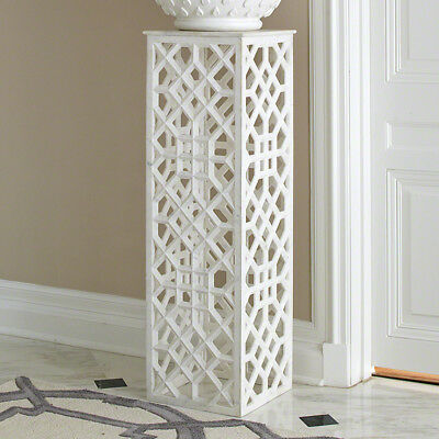 """47"""" Tall Pedestal Hand Carved Honed White Marble Spectacular Pillar Sculpture"""