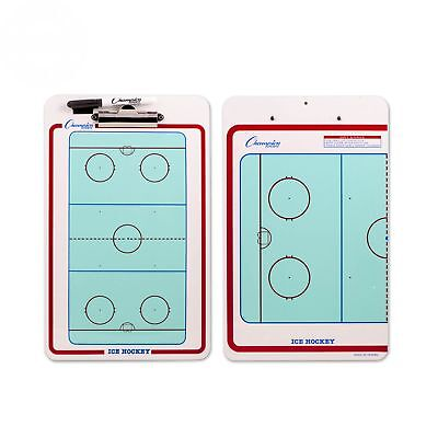 Champion Dry Erase 2 Sided Ice Hockey Coach Coaching Board With Marker CBIH