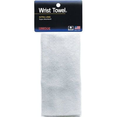 Unique Sports Extra-Long Super-Absorbent Non-Allergenic White Cotton Wrist Towel