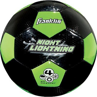 Franklin Sports Glow In The Dark Youth Soccer Ball Size 4 Durable New 19323
