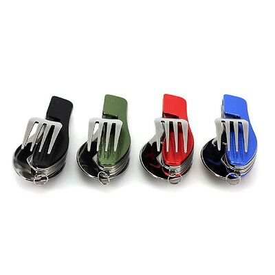 Portable 3In1 Stainless Steel Folding Spoon Fork Knife Tableware Travel Hot Sale