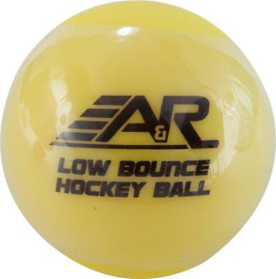A&R Low Bounce Roller Street Floor Hockey Ball Yellow For Below Freezing Durable