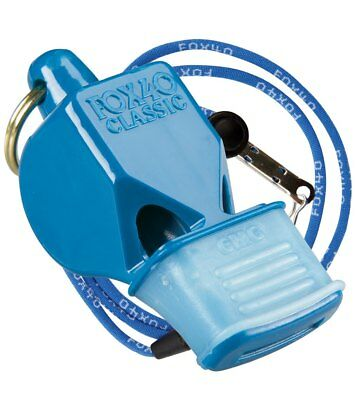Fox 40 Classic CMG Whistle With Lanyard Referee-Coach, Safety Alert-Blue