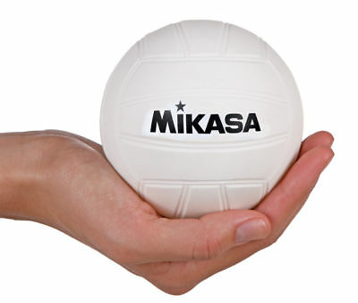 Mikasa 4-Inch Mini Promotional Volleyball, Soft Cover, White, For Dorm Or Office