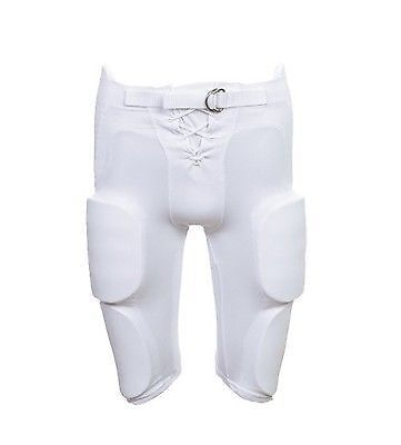 Martin Sports Youth Football Pants With Integrated Pads White XL FPADY-XL-WHT