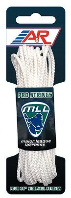 A&R Sports Major League Lacrosse Pro Mesh String Kit With Laces & Foam Ball Stop