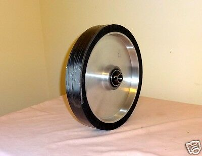 "Knife Making:Belt Sander 8""x 2"" Rubber Contact Wheel with Premium ABEC3 Bearings"