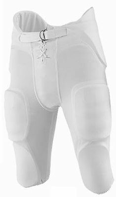 Martin Sports Youth Football Pants With Integrated Pads Small White FPADY-SM-WHT
