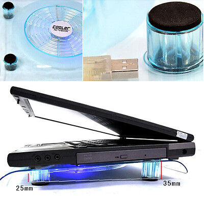 USB LED Design Cooler Cooling Fan Pad Stand for PS4 Playstation Laptops Clear