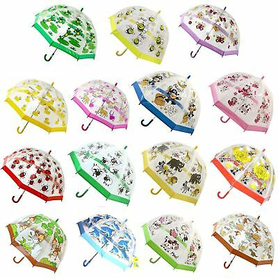 Bugzz Kids Children PVC Clear Umbrellas