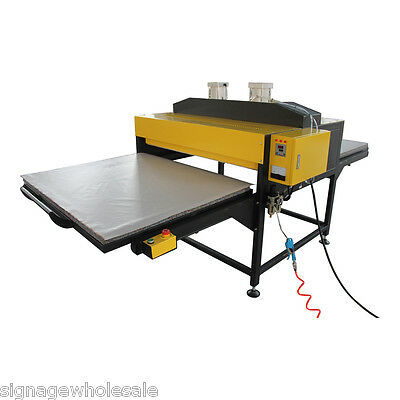 """24"""" x 31"""" Pneumatic Double-Working Table Large Format Heat Press Machine-By SEA"""