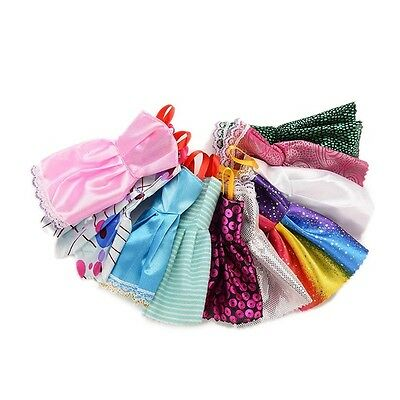 10 pcs/Lot Beautiful Handmade Party Clothes Dress for Barbie Doll wholesale