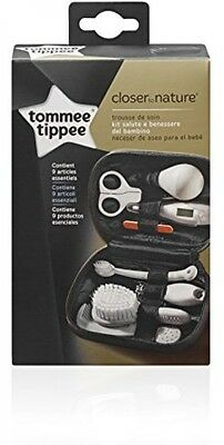 Tommee Tippee Closer to Nature Healthcare & Grooming Kit Thermometer Baby Brush