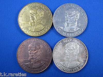 Sesquicentenary of WA 1979. A set of 4 uncirculated medallions WAY79