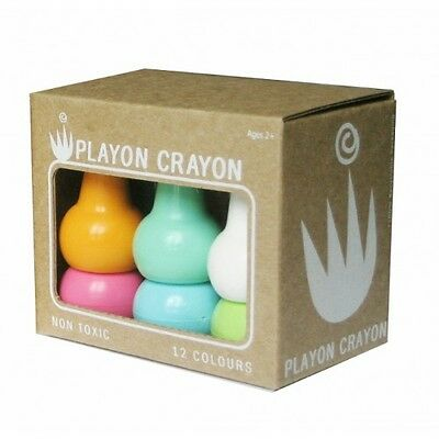 Studio Skinky Playon Crayons Pack 12 PASTEL COLOURS - Kids Stackable Non-Toxic