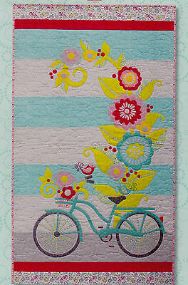 Lakeside Ride - applique & pieced wall quilt PATTERN - Cherry Blossoms
