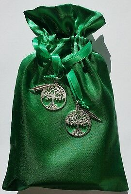 Tree of Life Tarot Bag Green