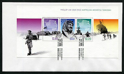 2012 AAT Phillip Law Minisheet FDC First Day Cover Stamps Australia