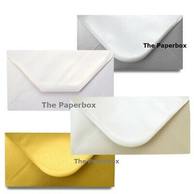 DL Pearlescent Envelopes - various colours & pack sizes available