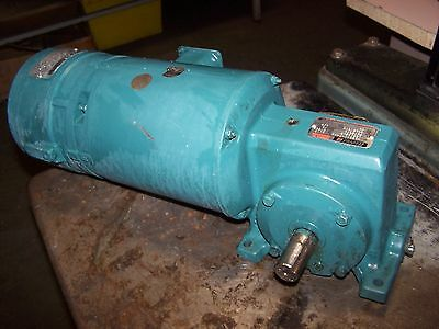 Reliance 1/2 Hp Ac Electric Brake Gearmotor 58 Rpm Out 230/460 Vac F51A0103M-Ng