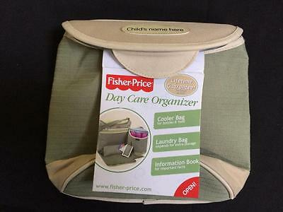 Fisher Price Day Care Organizer green cooler bag ONLY insulated NEW