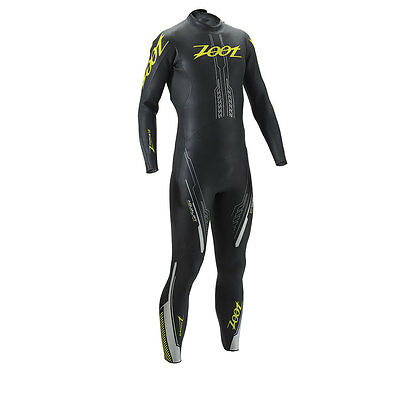 Zoot Mens Z Force 1 Wetsuit Triathlon Swimming Wetzoot - Black/Flash