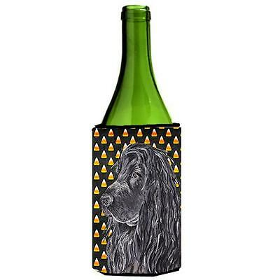 English Cocker Spaniel Halloween Candy Corn Wine Bottle Hugger