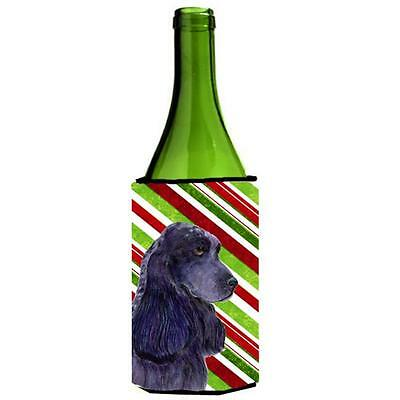 Cocker Spaniel Candy Cane Holiday Christmas Wine Bottle Hugger 24 oz.