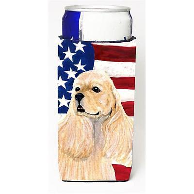 Usa American Flag With Cocker Spaniel Michelob Ultra s For Slim Cans 12 oz.