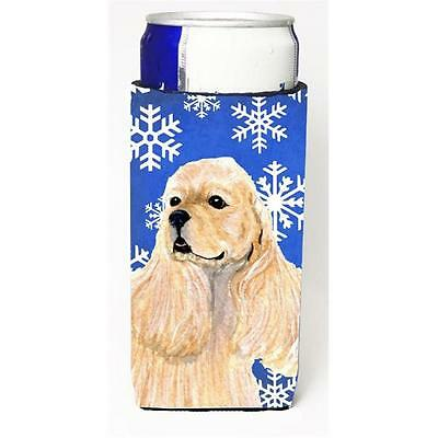 Cocker Spaniel Winter Snowflakes Holiday Michelob Ultra bottle sleeves For Sl...