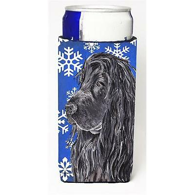 English Cocker Spaniel Blue Snowflake Winter Michelob Ultra bottle sleeves Fo...